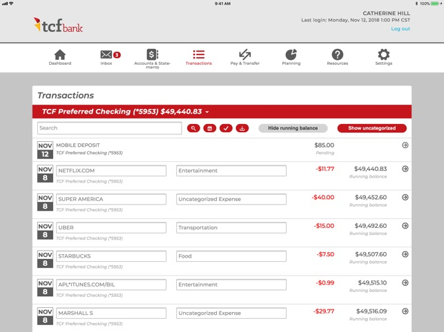 tcf bank online check deposit reviews