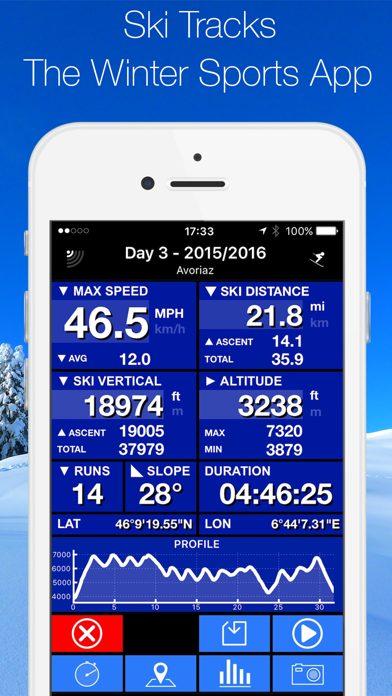 Screenshot for Ski Tracks in Czech Republic App Store