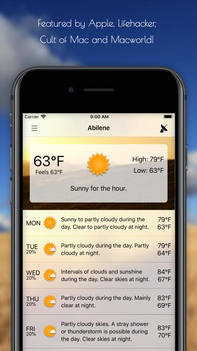 Forecast Bar - Weather + Radar Screenshot