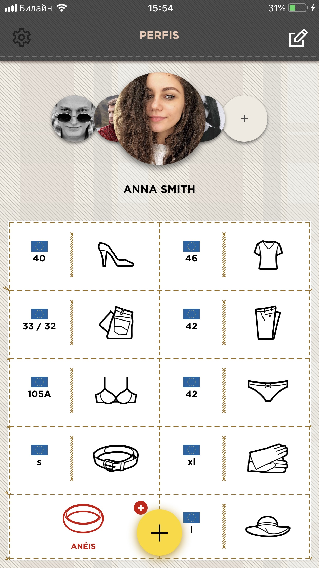 Screenshot do app Sizer – Clothes That Fits