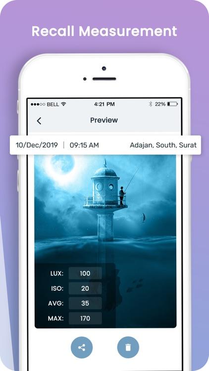 Light Meter: Measure Lux screenshot-4