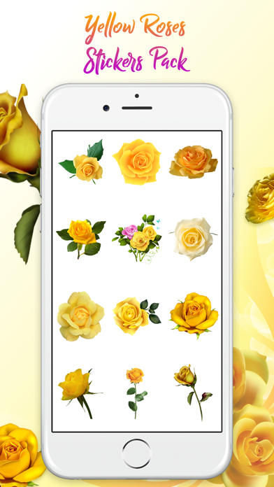 Yellow Rose Stickers screenshot two