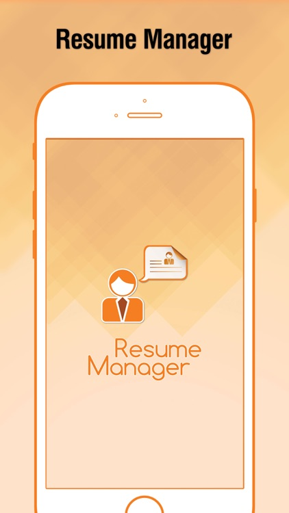 Resume Manager : CV Maker