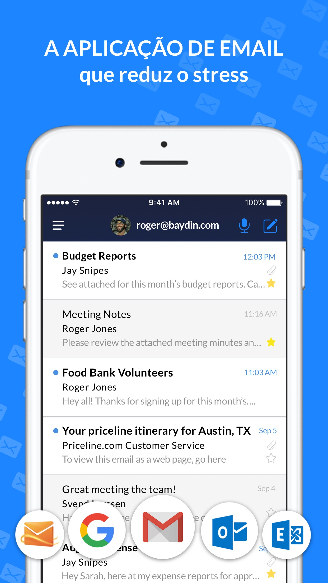 Screenshot do app Cliente de email - Boomerang