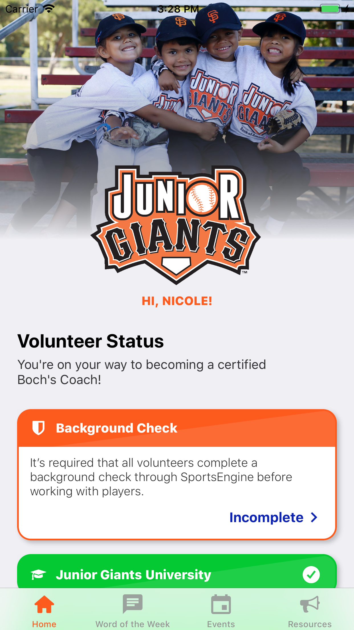 Go Junior Giants screenshot 1