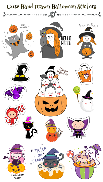 260+ Cute Hand Drawn Halloween screenshot 1