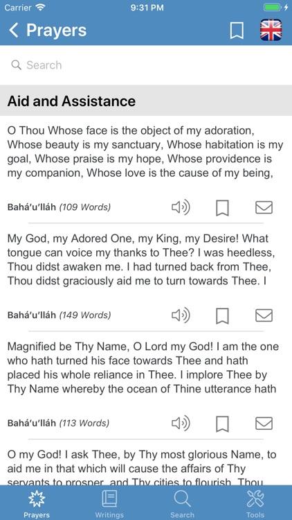 Bahá'í Prayers,Writings,Tools