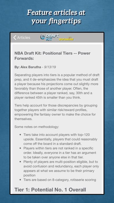 Fantasy Basketball Draft '19 Screenshot