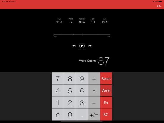 Running Record Assistant Screenshots