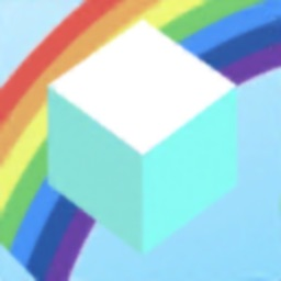 Stack rainbow colored boxes