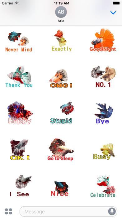Animated Fighting Fish Sticker screenshot 3