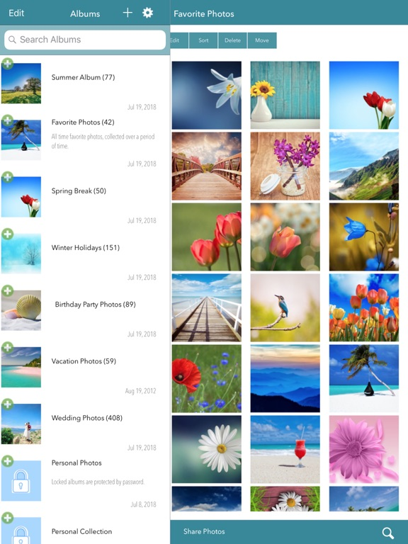 Photo Album - Smart Organizer and Slideshows Maker screenshot