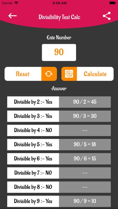 Math Table N Divisibility screenshot 4
