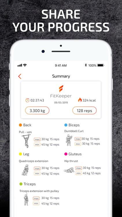 FitKeeper - Weight Lifting Log screenshot-5