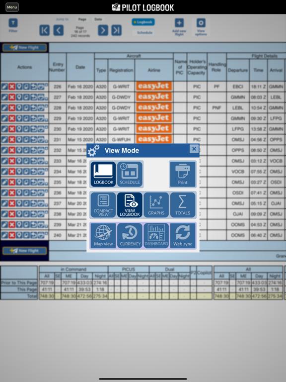 Safelog Pilot Logbook screenshot