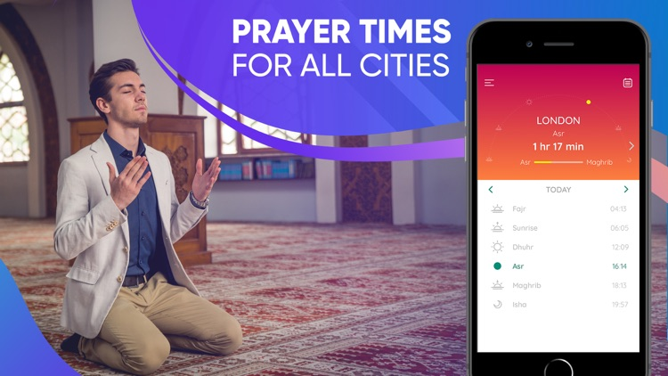 Prayer Times Pro - Qibla, Azan screenshot-1