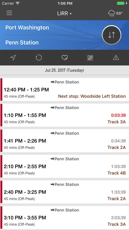 onTime LIRR screenshot-0