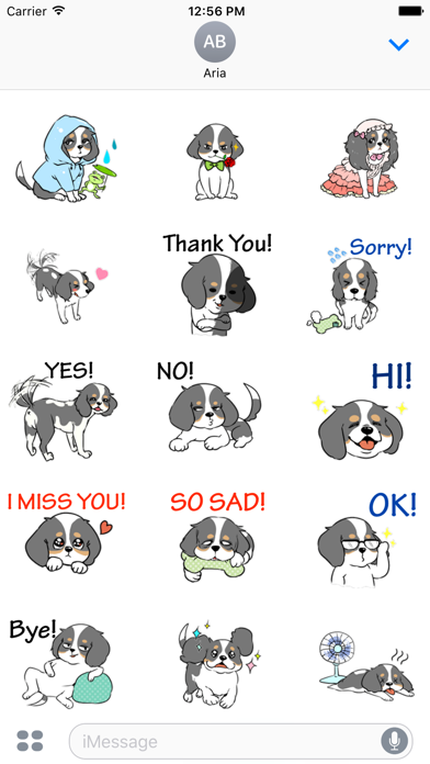 Adorable Cavalier Dog Sticker - 窓用