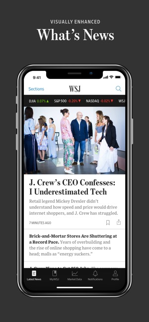The Wall Street Journal  on the App Store