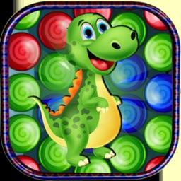 Dinosaur bubble shooter ball