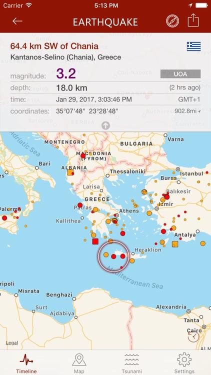 Earthquake - alerts and map screenshot-3