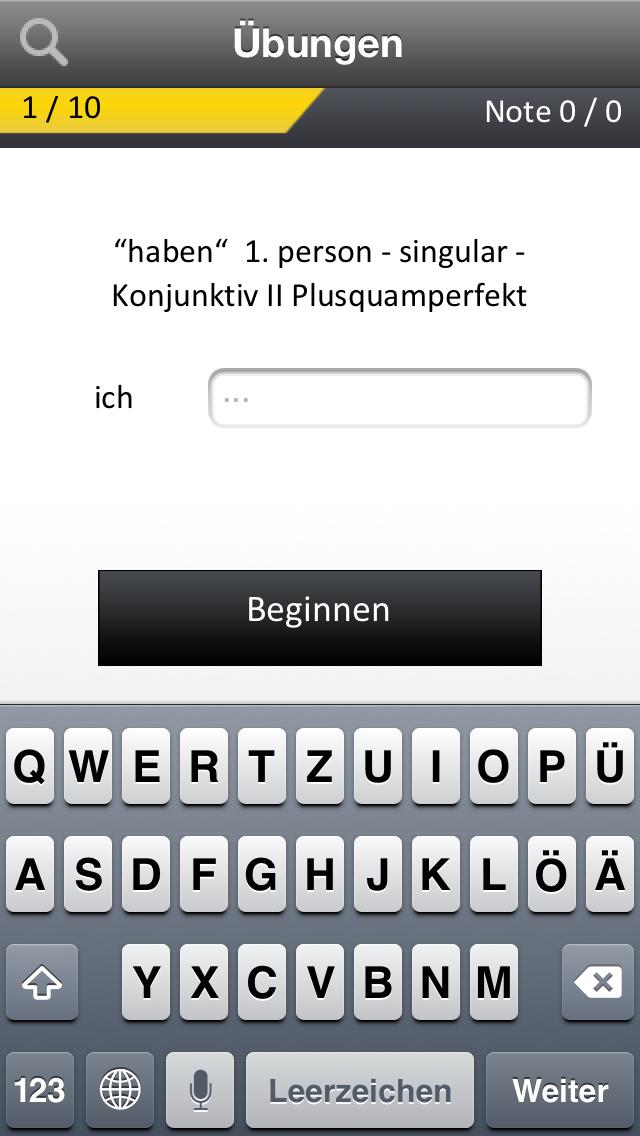 La conjugaison allemande L'OBS