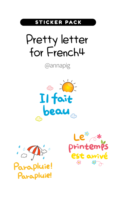 Pretty letter for French4 screenshot 1