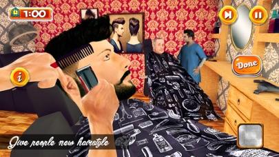 Barber Shop Hair Cut Simulator Screenshot on iOS