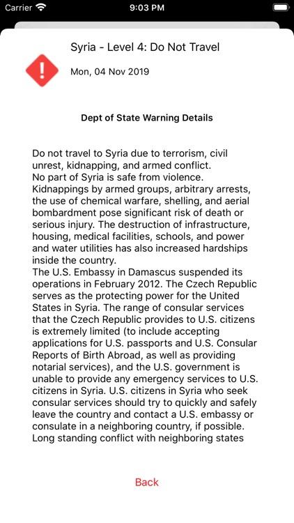 TravelGard - Travel Warnings