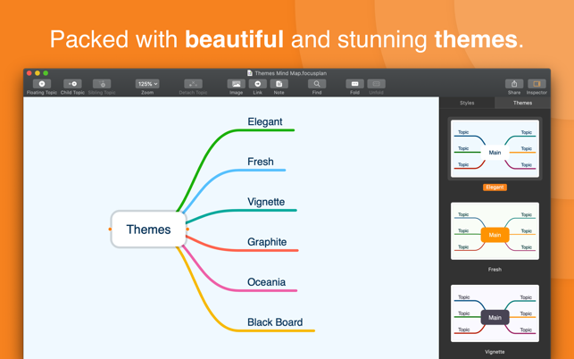 Introducing Focusplan on the Mac App Store - A powerful Mind Mapping app Image