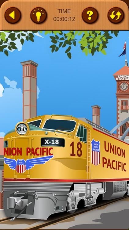 Train Jigsaw Puzzles for Kids screenshot-5