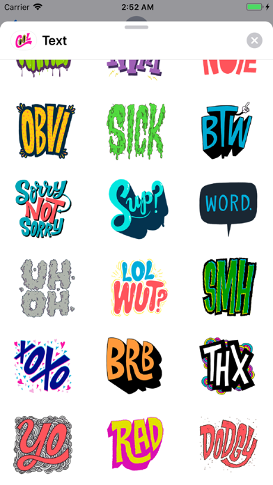 Screenshot for Cool Text Trending Sticker Emo in United States App Store