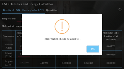 Screenshot #2 pour LNG Densities and Energy calc
