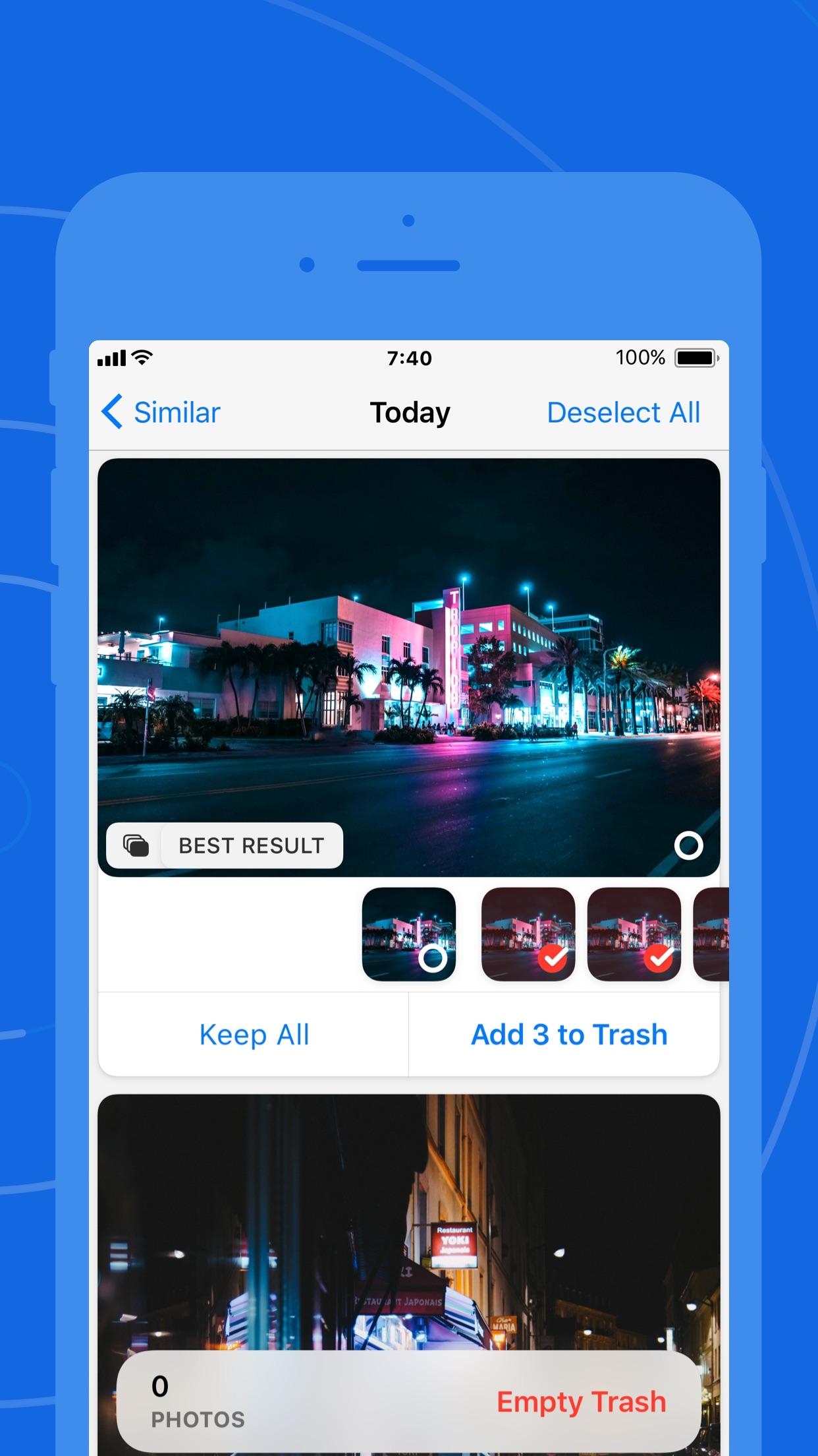 Screenshot do app Gemini Photos