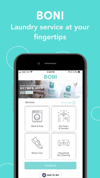 BONI – Laundry Delivery
