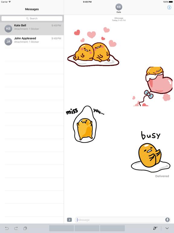 Animated Gudetama Egg Sticker screenshot 5