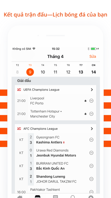 Screenshot for Forza - Football live scores in Viet Nam App Store