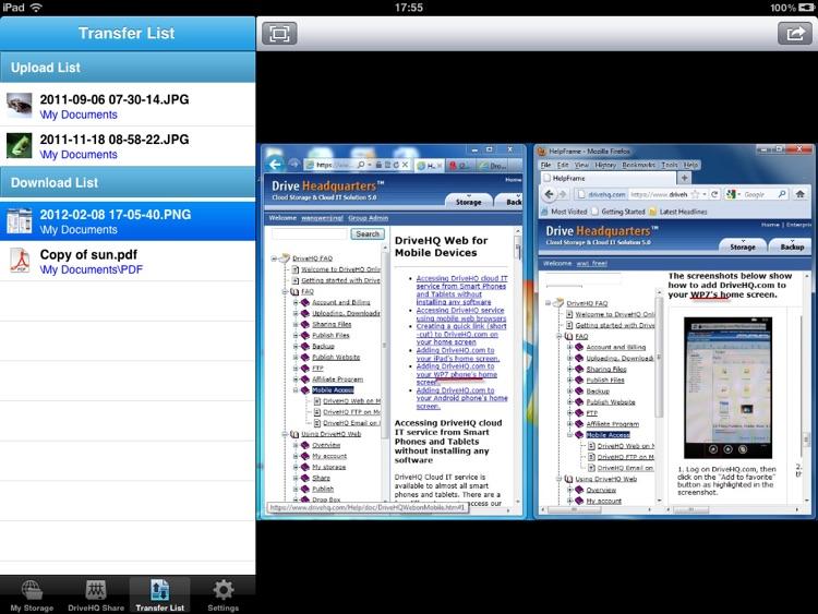 DriveHQ File Manager for iPad screenshot-4