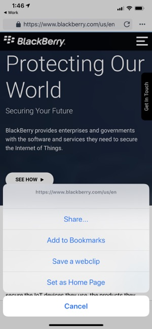 BlackBerry Access on the App Store