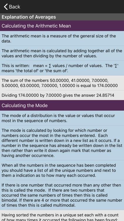 Averages Calculator