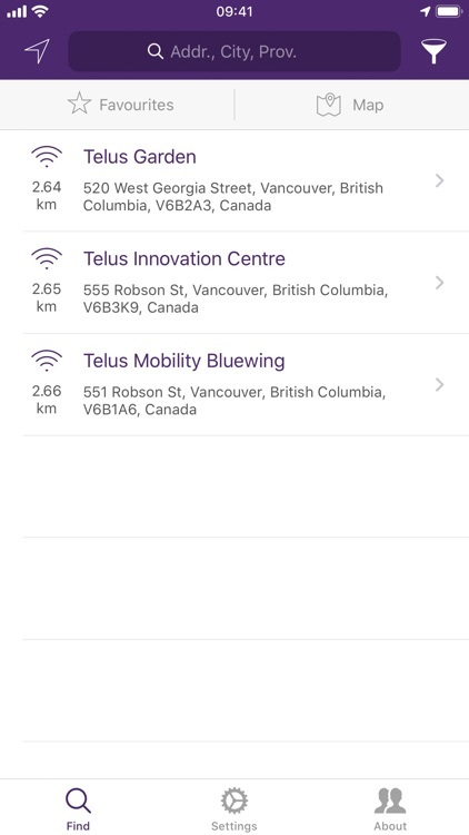 TELUS Wi-Fi Finder