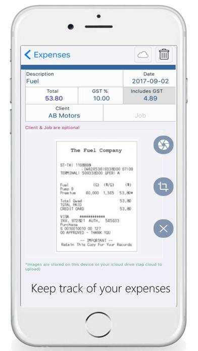 Timesheet Tracking Screenshot on iOS