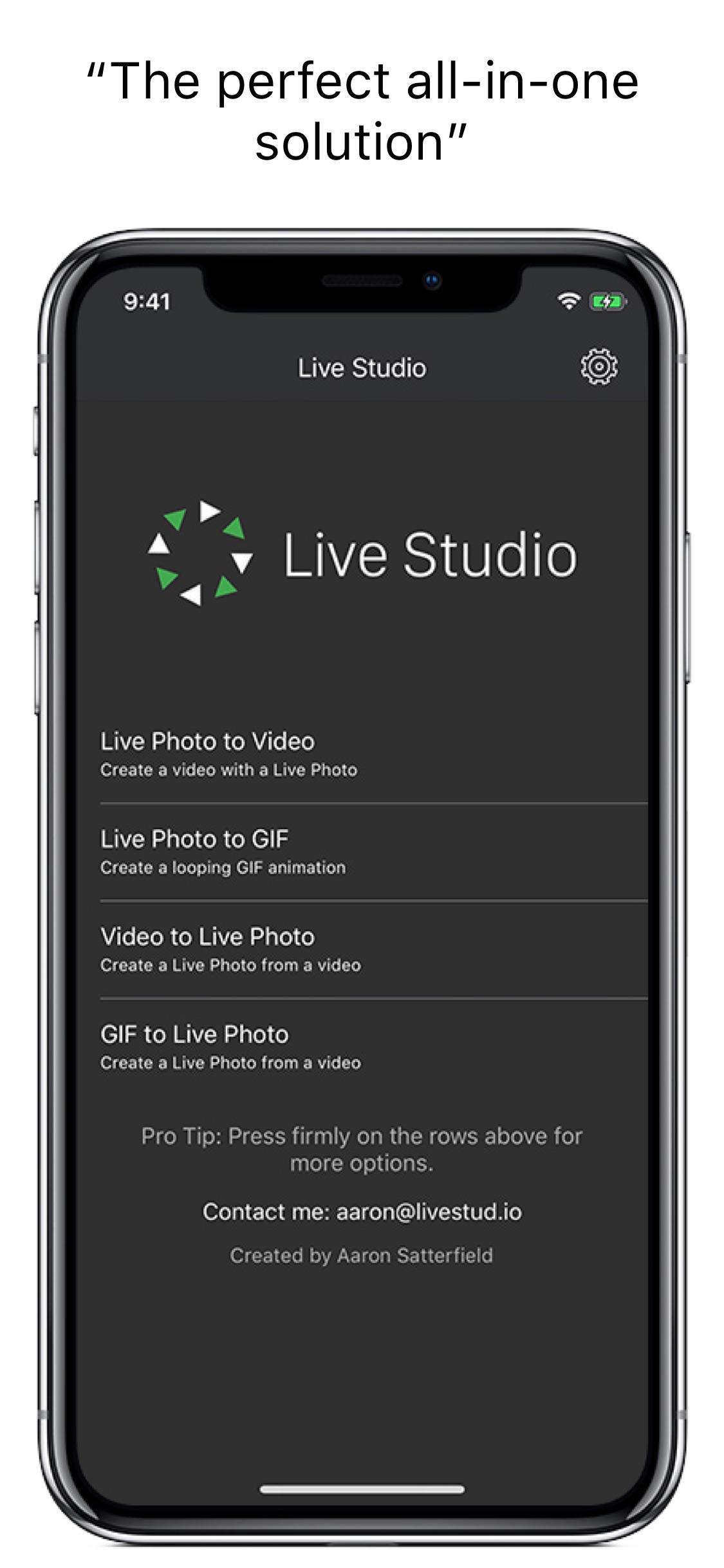 Screenshot do app Live Studio - All-in-One