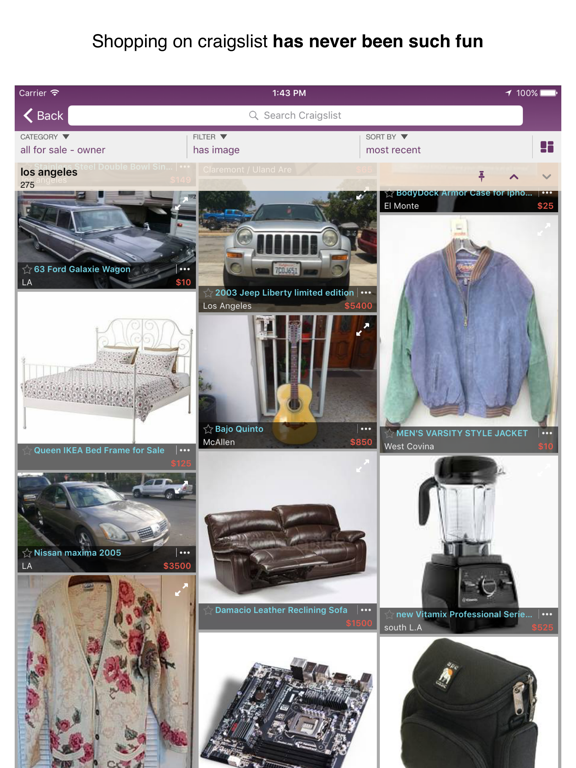 CPlus for Craigslist app - buy & sell used stuff locally on mobile screenshot