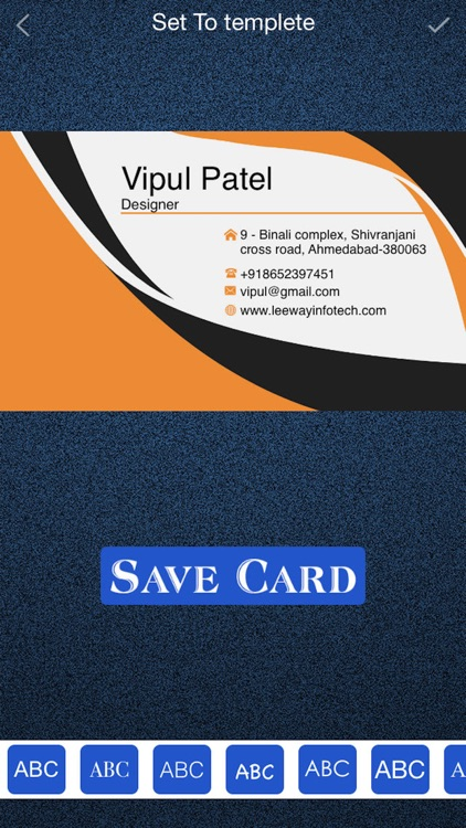 Business Card Maker - Own Card screenshot-3