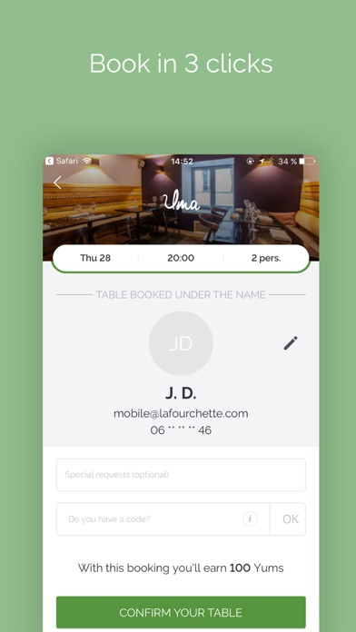 TheFork - Restaurants bookings for Windows