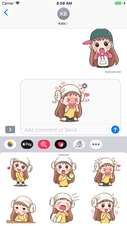 Fan Girl Stickers screenshot-3