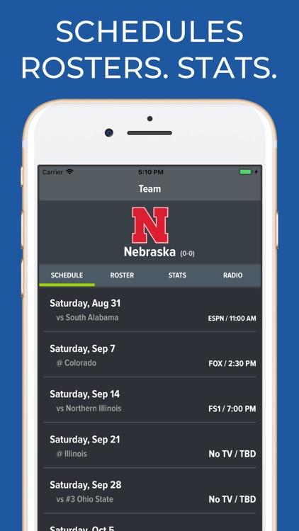 Nebraska Football Schedules