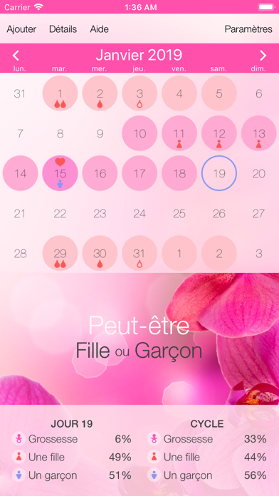 Screenshot for Calendrier du cycle menstruel in Lebanon App Store