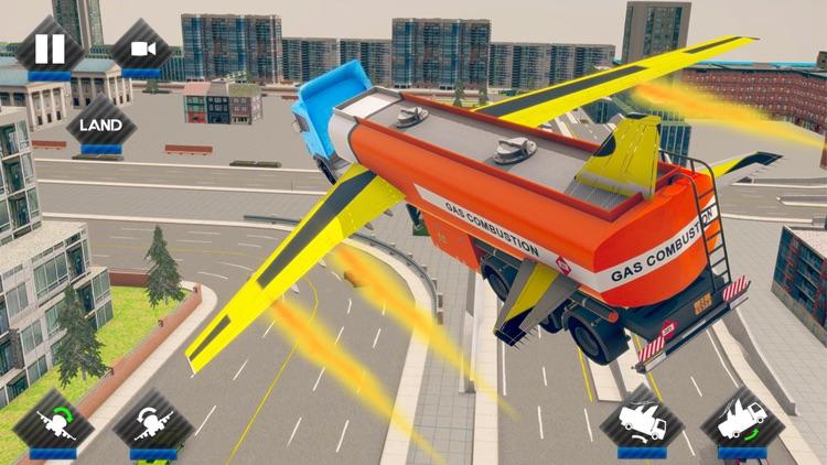 Futuristic Flying Truck Games screenshot-4